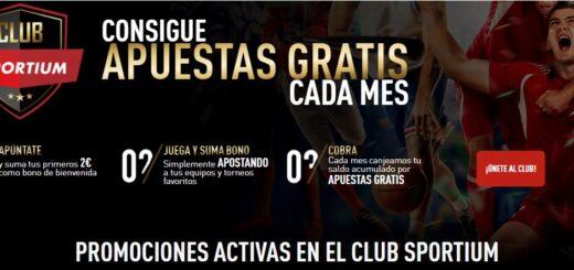 Apostar gratis con el club Sportium